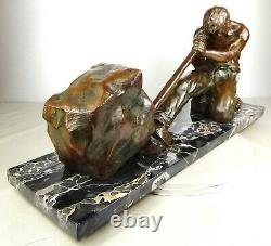 1920/1930 Santi Ugo Cipriani Grnd Statue Sculpture Art Deco Bronze Male Athlete