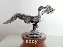 1925 Sasportas Mascot Car, Because Mascot, Hood Ornament, Art Deco Bronze