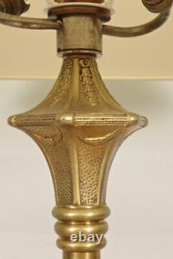 1930 Gold Bronze Floor Lamp Art-deco