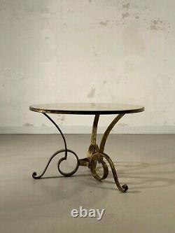 1940 Raymond Subes Gueridon Coffee Table Art Deco Modernistic Shabby-chic Adnet