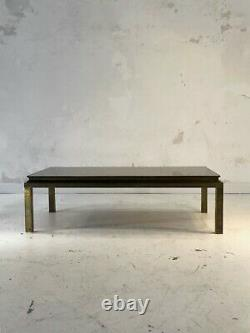 1970 Maison Jansen Coffee Table Art Deco Bronze Neo-classical Shabby-chic