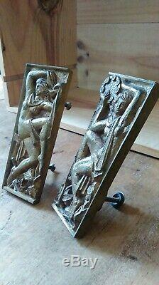 2 Beautiful Art Deco Bronze Handles Of Furniture By Maurice Jallot