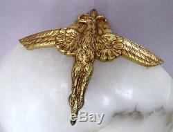 Alabaster Eagle Bronze Lamp