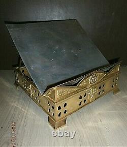 Ancient Lutrin /altar/church/religious/art Deco/bronze/reliquary/tabernacle/h. 8
