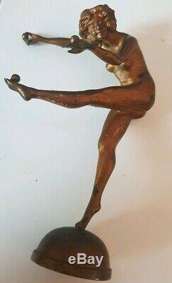 Ancient Sculpture Statue Jongleuse Counter Stand Bronze Art Deco