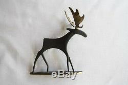 Antique Vienna Bronze Art Deco Signed Hagenauer Deer Moose
