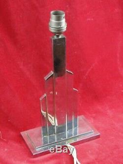 Art Deco Bronze Lamp Tiered Chrome Design Twentieth Modernist