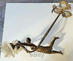 Art Deco Chandeliers Diane Huntress Regulates Bronze Patina Unusual 1930 21981