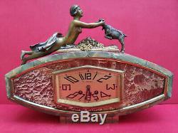 Art Deco Clock Pendulum Bronze 1930 Very Good Condition Working Perfectly