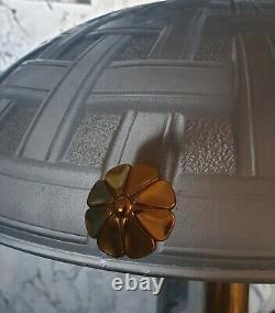 Art Deco Lamp Art Nouveau Moulded Glass (bronze Or Laiton)