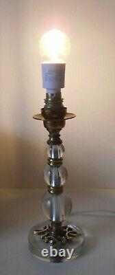 Art Deco Lamp Foot, Glass, Bronze, Brass, Circa 1940