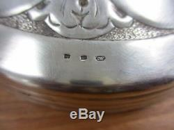 Art Deco Lamp Foot Silver Fourré H 39 CM