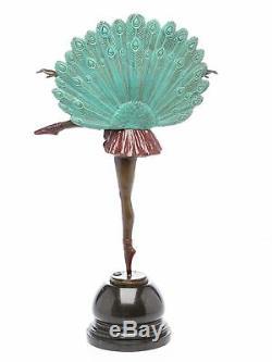 Art Deco Style Ballerina Statuette Bronze 56 CM