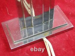 Art-deco Lamp With Chrome Bronze Tiers Design XX Modernist
