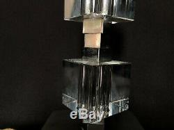 Assigns Jacques Adnet Lamp Cubes In Two Glasses Bunk Art Deco 1940 L9