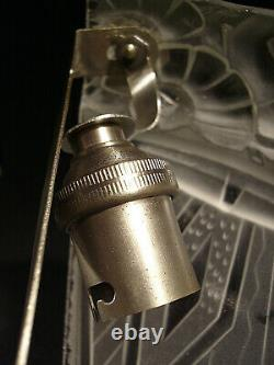 Aubin Ollier Applied Art Deco Glass Pressed And Bronze Nickelé 1930