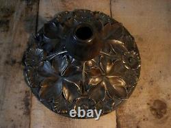 Beautiful And Large Bronze Art Deco Nouveau Lamp Base, 29 CM Diameter