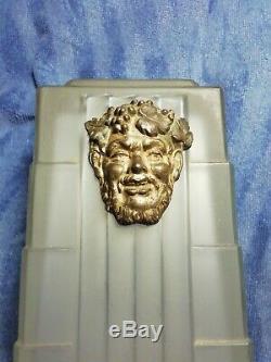Bedside Lamp Signed Bronze Statues Sabino Bachus Vine Wine Art Deco Lighting