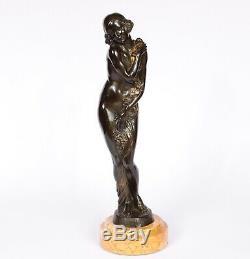Bronze Art Deco Signed J Descomps