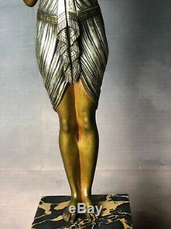 Bronze Art Deco Woman By Joseph Emmanuel Cormier Said Joe Descomps (1889-1950)