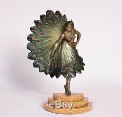 Bronze Art Deco Woman Range 1930