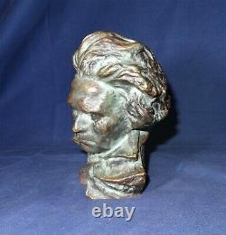 Bronze Beethoven Bust Pierre Le Faguays Sculpture Max Le Verrier