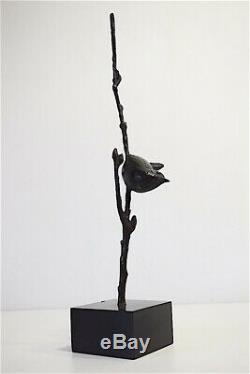 Bronze Bird Signed Susse Brother Art Deco Becquerel 1930