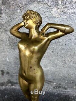 Bronze Female Prime Frisson Oury Louis (1867-1940)