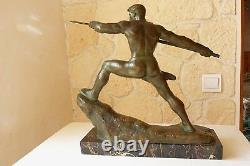 Bronze Javelin Launcher G. Gori, Marcel Guillemard N°1 Circa 1930 Ref 782