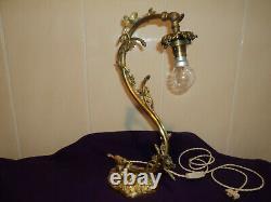 Bronze Lamp Foot Tulip Daum Muller Galle Art Deco/new Pate De Verre