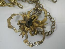 Bronze Or Brass Hanging Gold For Luminaire Vasque Art Nouveau Or Deco