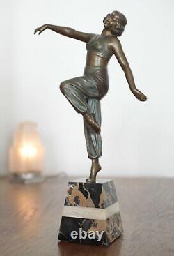 Bronze Sculpture Art Nouveau / Art Deco Signed Charles Muller