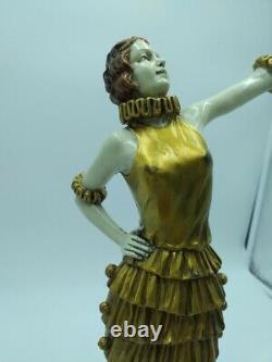 Bronze Signed Style Chrysephantine Art Deco Fernand Paris Dancer Cabaretxxème