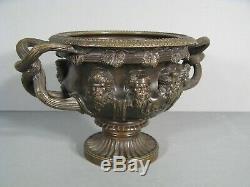 Bronze Style Antique Vase Decor Vase Warwick Bacchus Vineyard Villa Hadrian