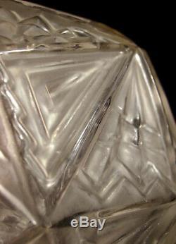 C. Ranc Nightlight Art Deco Modernist Bronze Nickel & Glass Globe Pressed
