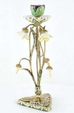 Candlestick Style Art Deco Porcelaine Bronze Ceramic