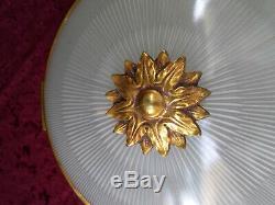 Ceiling Art Deco Bronze Dore Louis XVI