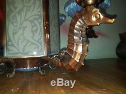 Chandelier Chandelier Art Deco Bronze Seahorse Hippocampus Boris Lacroix Petitot Ezan
