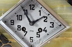 Chasseur Kaminuhr Empire Clock Bronze Antique Clock Cartel Pendulum Art Deco