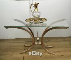 Coffee Table 70 Years Old The Base Bronze Glass Top