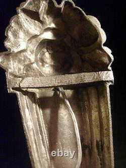 Dameron & Jokisch Ejg Applied Art Deco Bronze Nickelé & Tulip Pressed Glass