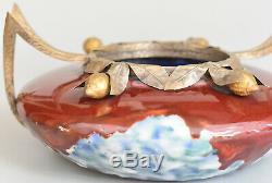 Dargyl Vase Art Deco Ceramics And Bronze France, Ca 1928