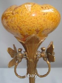 Dragonfly Animal Tree Vase Style Art Deco Style Art Nouveau Porcelaine Bronze