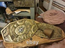 Exceptional Handles And Ornamental Plates Decorative Bronze Art Deco