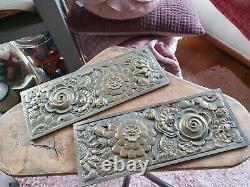 Exceptional Ornamental Plaque Bronze Art Deco Decoration (2)