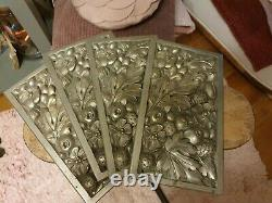 Exceptional Ornamental Plates Bronze Art Deco Decoration