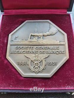 Exceptional Rare Art Deco Medaille Paul Marianne Turin Abundance Bronze