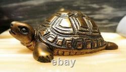 Extraordinary Statue Art Deco Marble Bronze Regulates Turtle Herons
