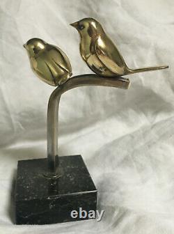 Fine Bronze Art Deco Birds On The Branch Circa 1930