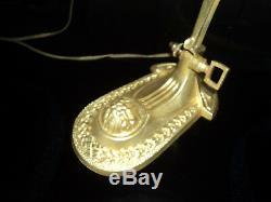 Foot Lamp Bronze Brass Tulip Pate Glass Daum Muller Art Deco / New